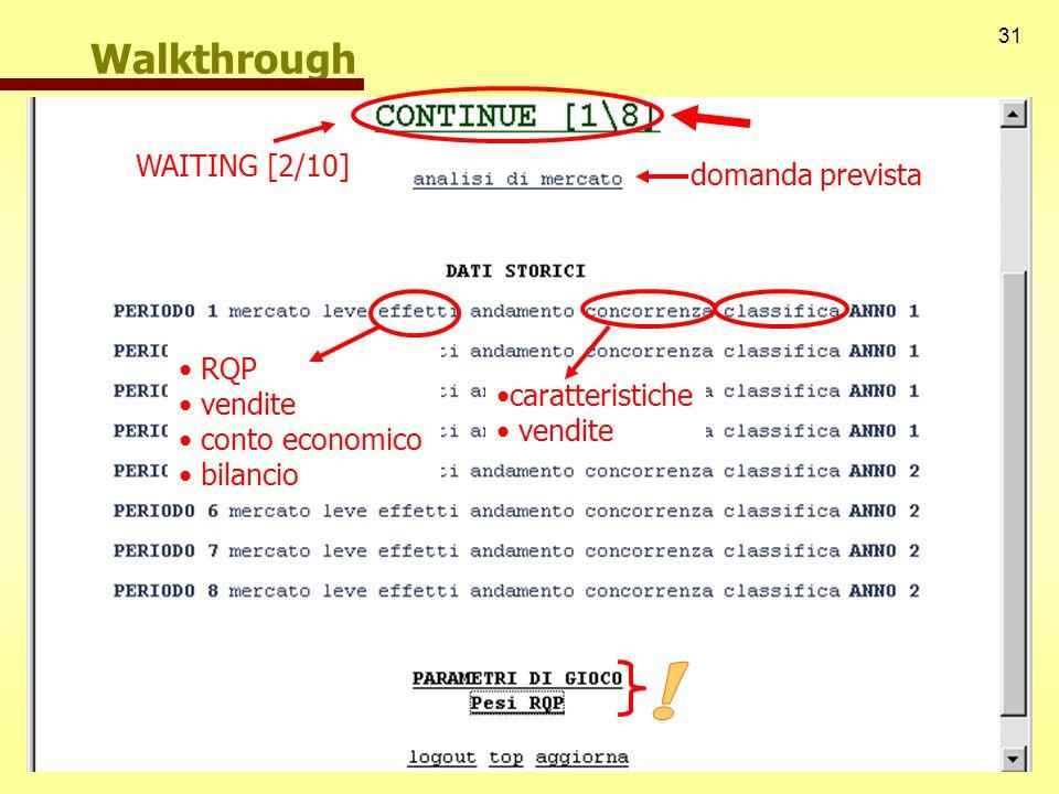 ! Walkthrough WAITING [2/10] domanda prevista RQP vendite